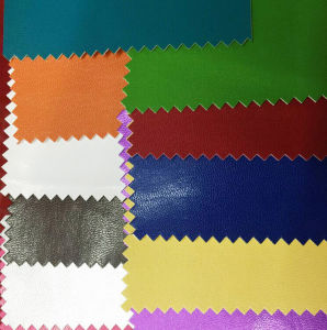 New 1.25mm Semi-Microfiber PU/Synthetic Leather for Shoes and Bags (MG2355) pictures & photos