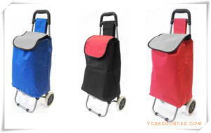 Two Wheels Shopping Trolley Bag for Promotional Gifts (HA82008) pictures & photos