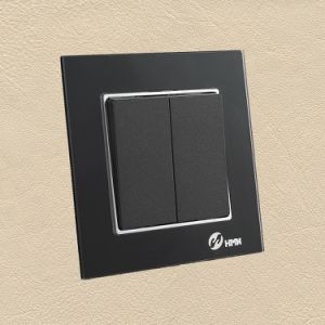 Ce/TUV/BV Certified EU Standard Black Thoughened Glass Wall Switch pictures & photos