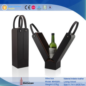 Paper & Leather Wooden Wine Box Wholesale for Wine Wholesale pictures & photos