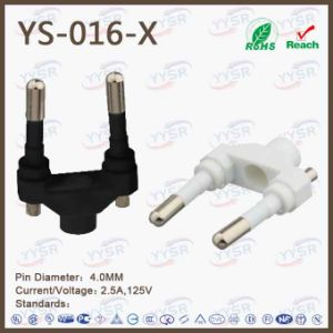 Yysr Brand Wholesale New Item European AC Plug 2.5A pictures & photos