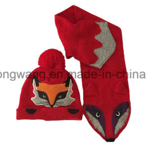 Hot Selling Kid′s Winter Warm Knitted Acrylic Set pictures & photos