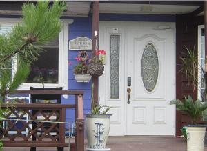 Real Wood Look Double Door Fiberglass Modern Door pictures & photos