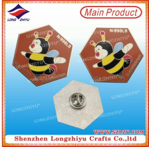 Honeybee Metal Pin Badge Silver and Hard Enamel Badge pictures & photos
