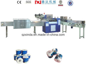 Automatic Single Roll Toilet Paper Plastic Packing Machine Price pictures & photos