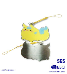 High Quality Metal Printing Mobile Phone Straps for Promotional Gifts (XDMS-02) pictures & photos