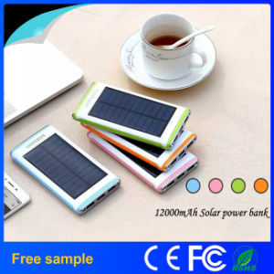 Waterproof Flashlight Portable Solar 12000mAh Power Bank pictures & photos