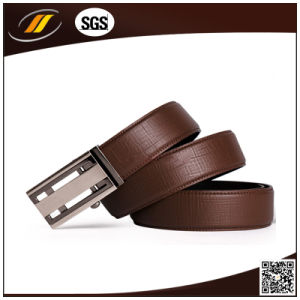 Factory Wholesale Automatic Buckle Man Genuine Leather Belt pictures & photos