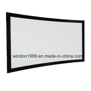 Curve Projection Fixed Wall Projector Screen pictures & photos