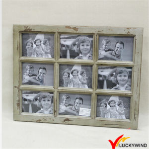 Wholesale Distressed Vintage 9-Opening Window Wooden Collage Photo Picture Frames pictures & photos