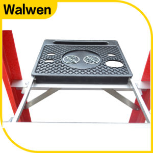 FRP Foldable Ladders and Step Ladders with Unilateral Tray pictures & photos