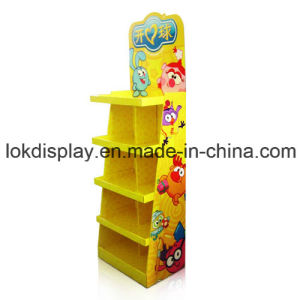 Retail Paper Point of Purchase Display Stands for Toys, Cardboard Floor Display Shelf pictures & photos