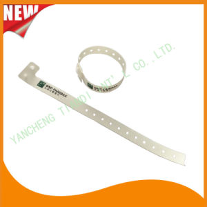 Entertainment One Time Use Promotion Custom Plastic ID Wristband (E8070-35) pictures & photos