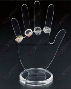 Clear Acrylic Necklace Ring Earring Jewelry Cosmetic Makeup Display pictures & photos