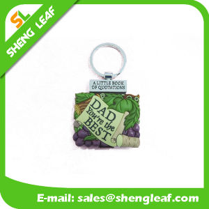 Wholesale 3D Rubber Mini Book Keychain pictures & photos