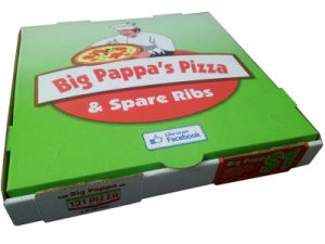 OEM Colorful Printing Corrugated Paper Cardbaord Pizza Boxes pictures & photos
