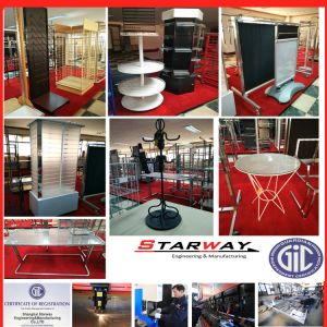 Storer Exhibition Stainless Steel Sheet Metal Display pictures & photos