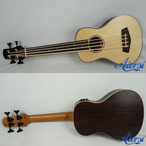 China Aiersi Solid Spruce Top Electric Bass Ukulele pictures & photos