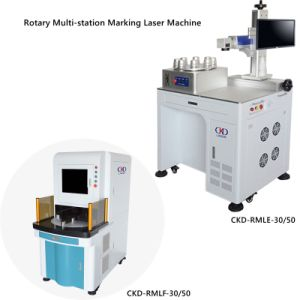 30W Fiber Laser Marking Machine with Automatic Rotary Chuck pictures & photos