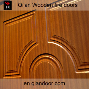 Sapelli Skin Wooden Fireproof Door pictures & photos