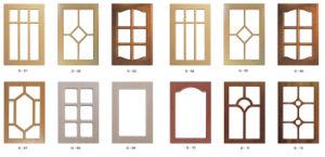 PVC Vinyl Wrap Kitchen Cabinet Door pictures & photos