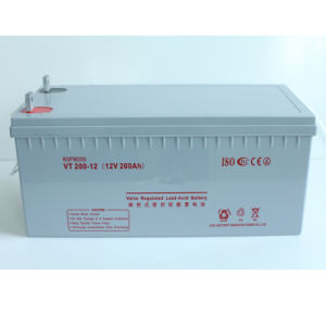 UPS 12V200ah Sealed Rechargeable AGM Lead Acid Battery for Solar