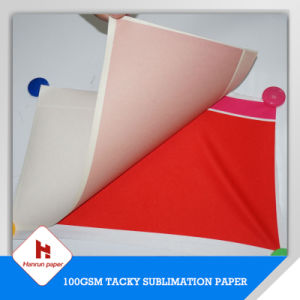64′ 100GSM, 70GSM Sublimation Roll Size Tacky Sublimation Transfer Paper for Sportswear pictures & photos