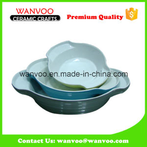Cheapest Bowl Tray Ceramic Pie Cake Baking Oven Dish Pan pictures & photos