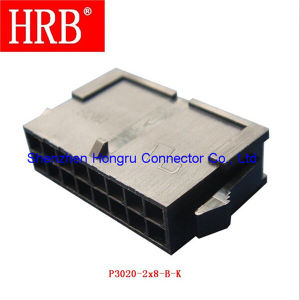 Plug Housing Dual Row Connector with Panel Mount pictures & photos