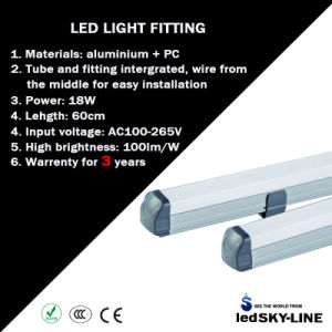 2 Feet 10W/18W/30W/36W All in One T8 High Power LED Fluorescent Tube Light AC85-265V