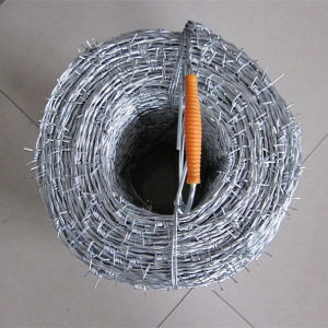 2016 New Electro Galvanized Barbed Wire with Handle pictures & photos