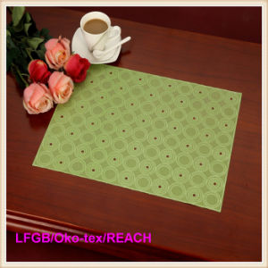 PVC Pressed and Cutout Lace Placemat (JFCD-0564) pictures & photos