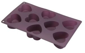 Silicone 8 Cup Heart Muffin Pan & Cake Mould &Bakeware &Silicone Kitchenware pictures & photos