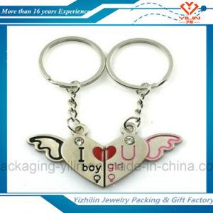 Fashion Metal Heart Shape Couple Key Chain Wholesale