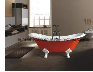 Double Slipper Clawfoot Cast Iron Bathtub Sw-1005A