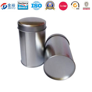 Round Shaped No Printing Metal Tea Packaging Box pictures & photos