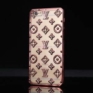 Wholesale Spot Drilling LV TPU Electroplate Mobile Phone Case for iPhone/Samsung