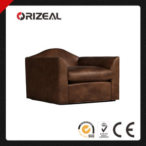 Orizeal Antique Belgian Camelback Leather Single Sofa Chair (OZ-LS-2004) pictures & photos