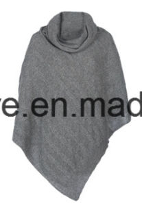 Lady′s Cable High Neck Collar Pure Cashmere Knitwear pictures & photos