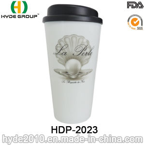 High Quality Plastic Coffee Mug with Lid (HDP-2023) pictures & photos
