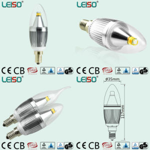 C35 LED Candle Bulb with Silver Body pictures & photos