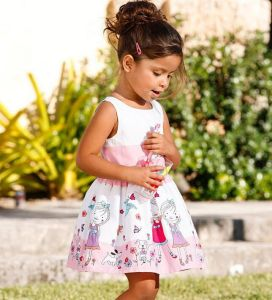 Fashion Girl Dress with Lovly Print in Children Clothes pictures & photos