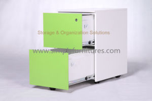 2 Drawers Mobile Metal Filing Cabinet (SI6-LCF2DGW) pictures & photos