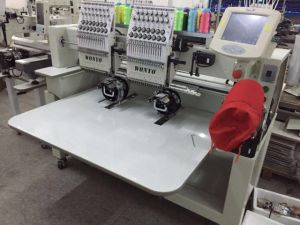 2 Heads 15 Colors High Speed Cap Embroidery Machine pictures & photos