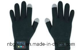 Winter Acrylic Knitted Touch Screen Bluetooth Glove pictures & photos