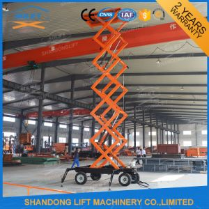 Outdoor Portable Hydraulic Scissor Man Lift Work Platform with Ce pictures & photos