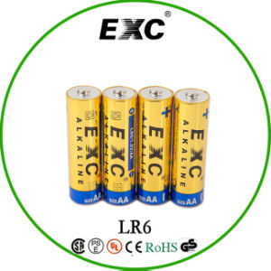 AA Alikaline Battery Lr6 1.5V Dry Cell Battery Gold Blister Peaking pictures & photos