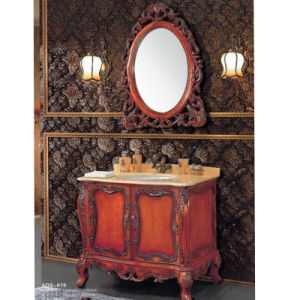 Luxury Bathroom Vanitysolid Wood Bathroom Sanitary Ware Cabinet (ADS-619) pictures & photos