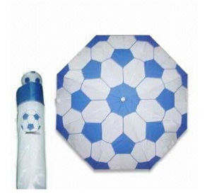 Three Folding Umbrella with Football Printing and Handle (BR-FU-133) pictures & photos