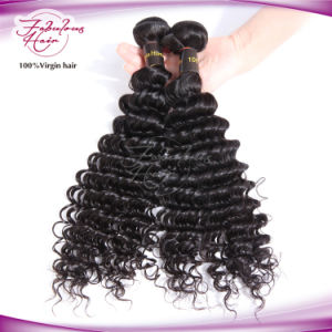 Deep Wave Natural Color Human Hair Weave Virgin Brazilian Hair pictures & photos